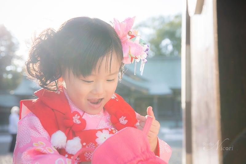 札幌 七五三 出張撮影 写真 3歳 着物 ロケーション