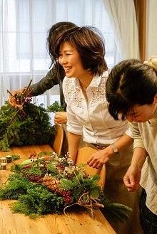 クリスマススワッグレッスン銀座東京