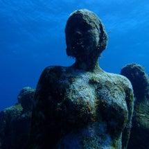 カンクンの海底美術館…
