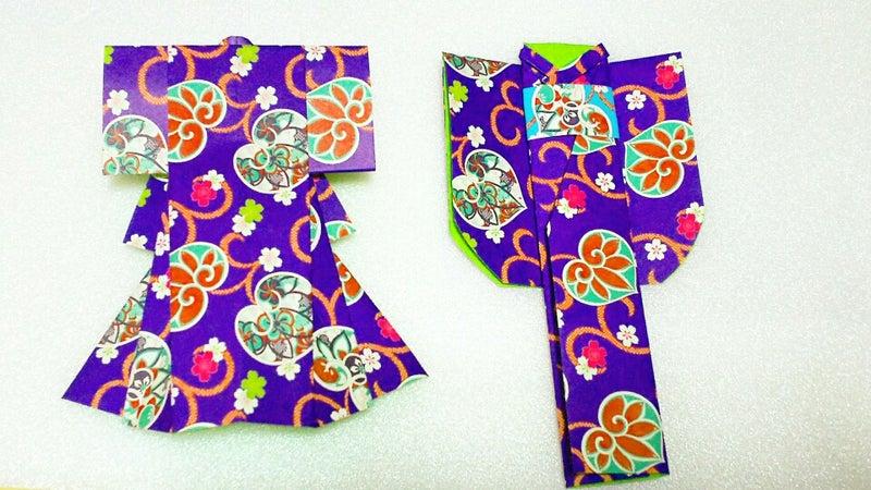 ハート 折り紙 : 着物 折り紙 折り方 : ameblo.jp