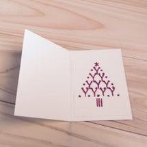 紙刺繍/クリスマスカ…