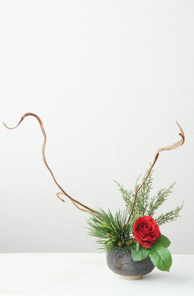 クリスマスのいけばなアートフラワー