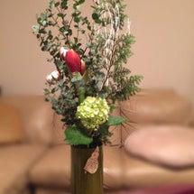 お誕生日に頂いたお花