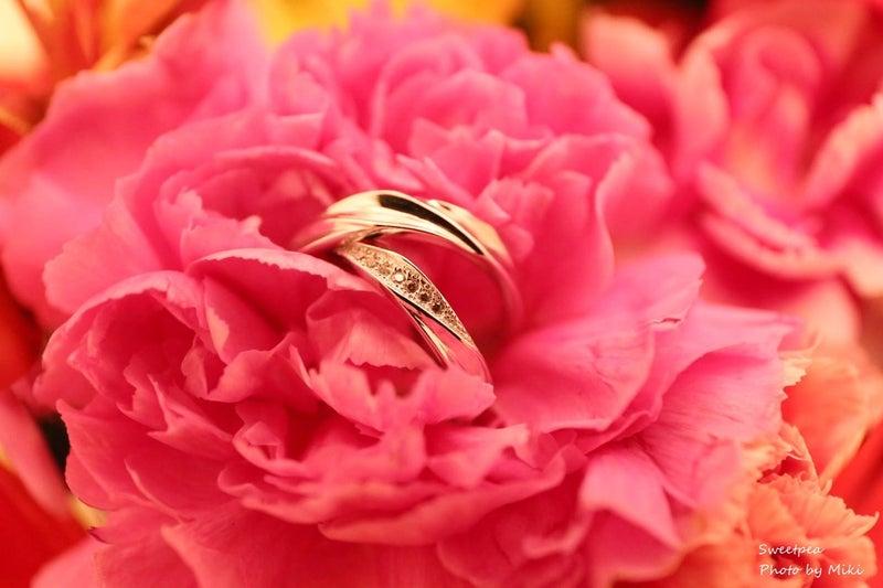ウェディングフォト マリッジリング 結婚指輪 ペアリング