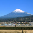 新幹線車窓から掛川城…