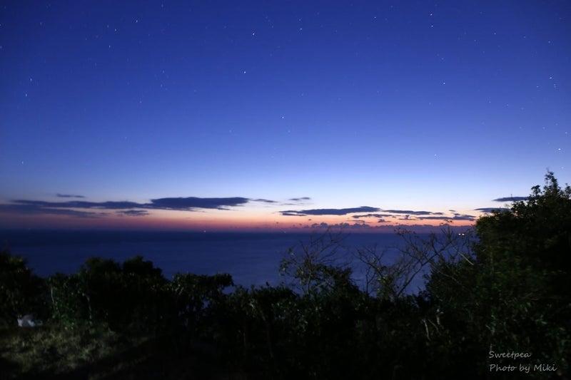 2017年元旦 初撮り 夜明け前 ブルーアワー 星空