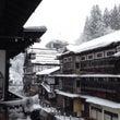 雪化粧の銀山温泉