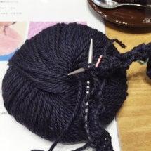 輪針で編むカウル