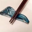 こぎん刺しのガラス箸…