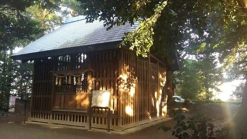 1208 中山神社 旧社殿わき 虹