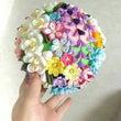 つまみ細工の花くす玉