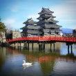 国宝松本城と白鳥