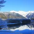 冬の上高地・大正池か…