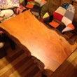 ケヤキ玉杢テーブルを…