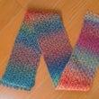 かぎ針編みのストール…
