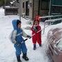 雪が積もりました!輪…