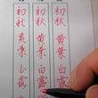 硬筆書写検定1級の練…
