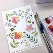 花のイラストを描く@…