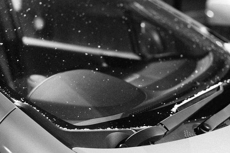 夜になっても雪がチラチラ