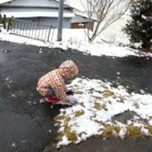 念願の雪遊び・・・で…
