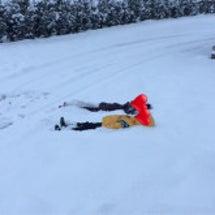 雪にちびっ子大興奮♪