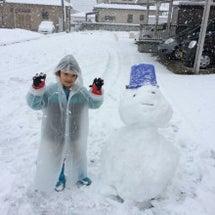 雪がチラつく中の訪問