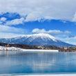 凍った御所湖