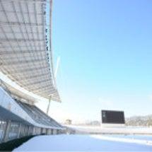 雪の維新スタジアム
