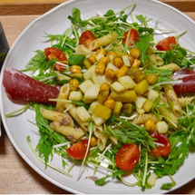 ひよこ豆と根菜の素揚…