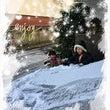 雪遊びと自立するカー…