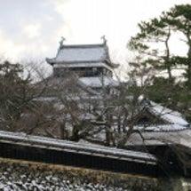 雪の松江城凸!!