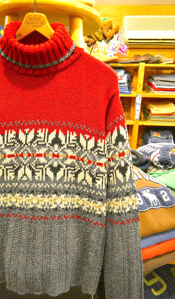 ノルディック雪柄セーター画像@古着屋カチカチ