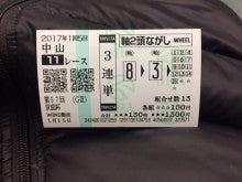 05_京成杯_3連単軸2頭ながし_20170115