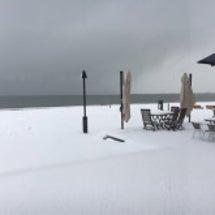 雪の中 大津へ