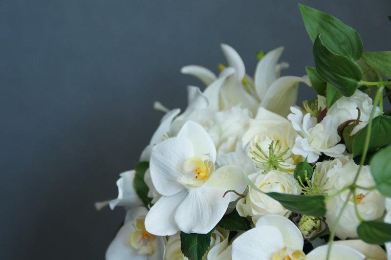 胡蝶蘭とカサブランカ アートフラワー