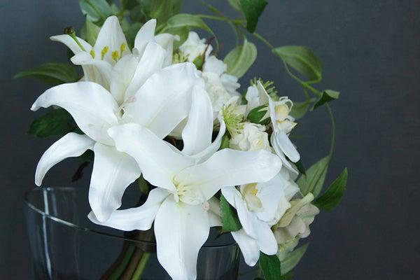 お祝い ギフト カサブランカ 造花