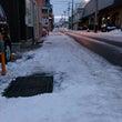 昨日の夕方から流雪溝…
