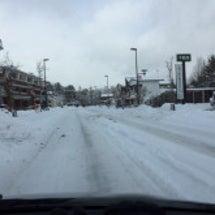軽井沢積雪20cm