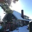 雪でテラスの屋根が抜…