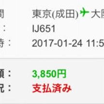 成田→関空でこれ