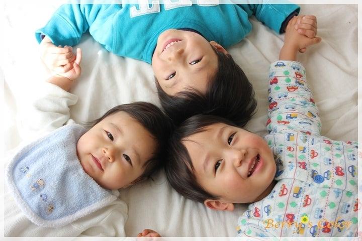 3兄弟の笑顔