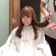 のんちゃんの前髪切る…