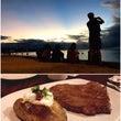 ビーチサンセットと肉