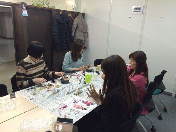 プリザーブドフラワー教室 プリザーブドフラワー レッスン バレンタイン フラワーケーキ 東京