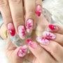 ピンクの華やかフラワ…