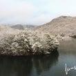 千丈寺湖の雪景色