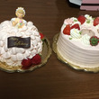 二つもケーキ