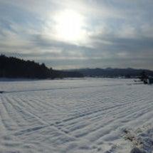雪景色空撮
