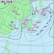 日本海の低気圧が北陸…