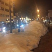 積雪が30センチもな…